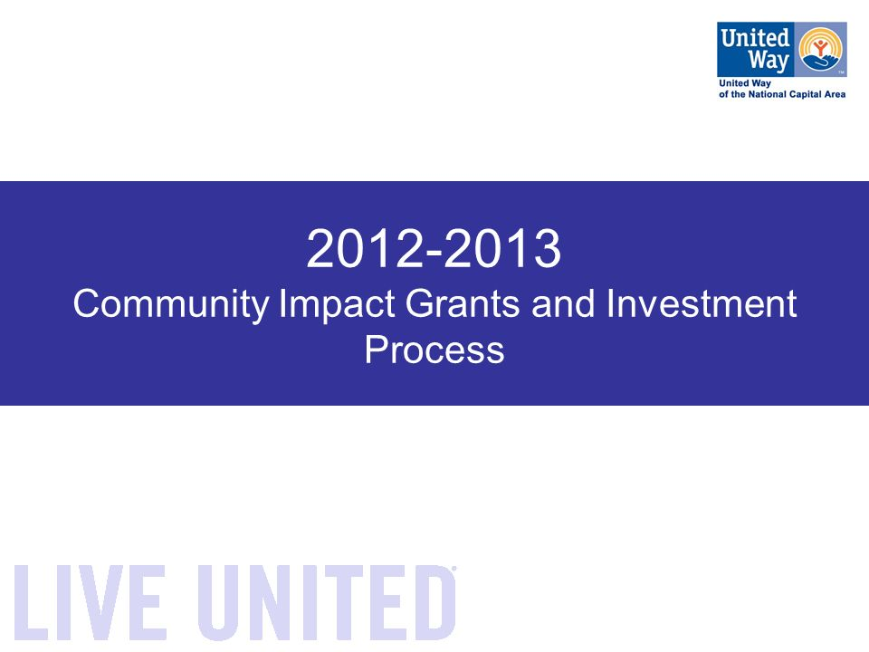 Community Impact Grants and Investment Process