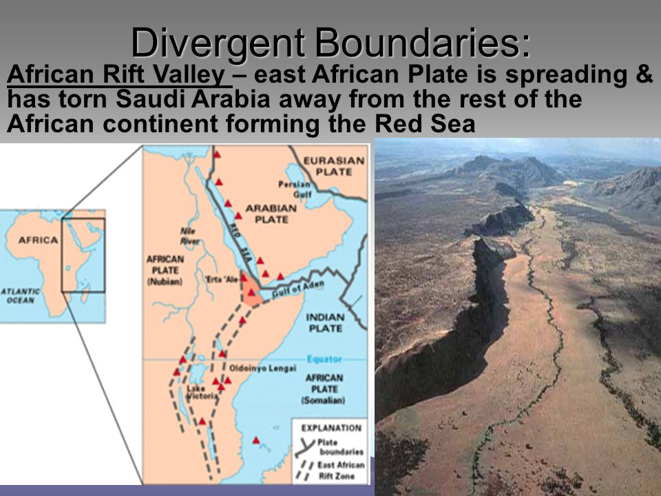 divergent boundary examples in the world