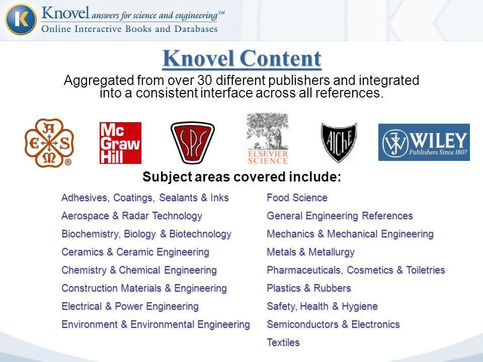 Knovel Answers For Science Engineering Paul Walker KASE