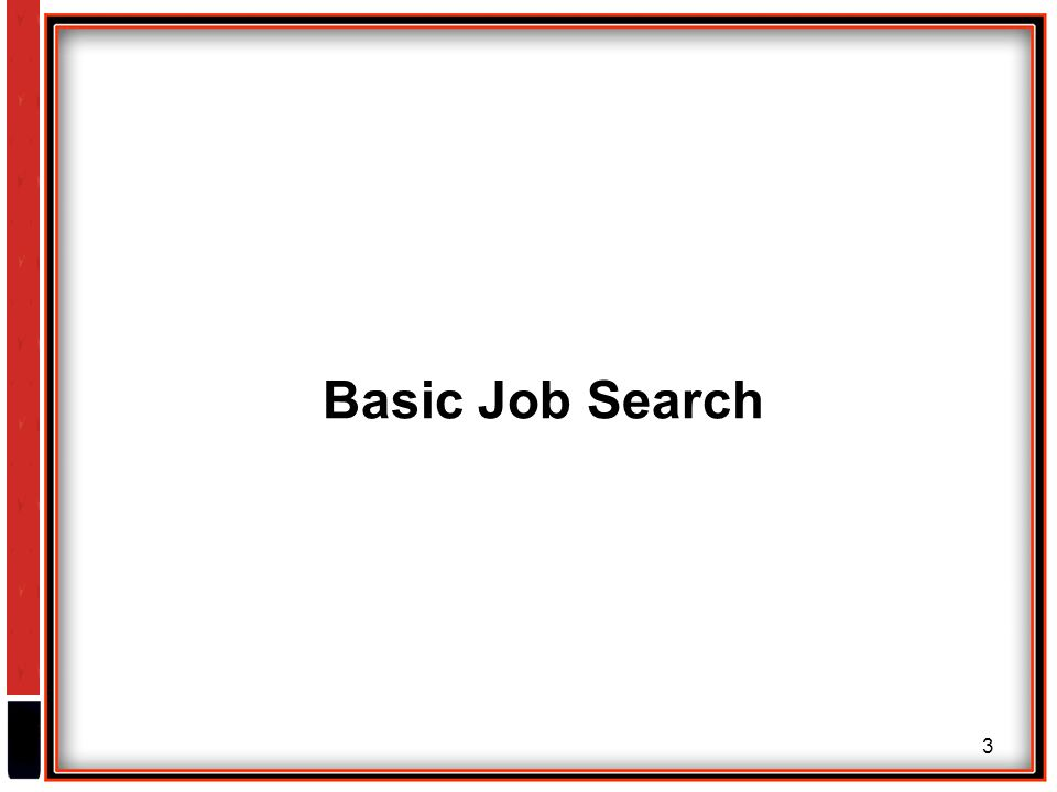 3 Basic Job Search