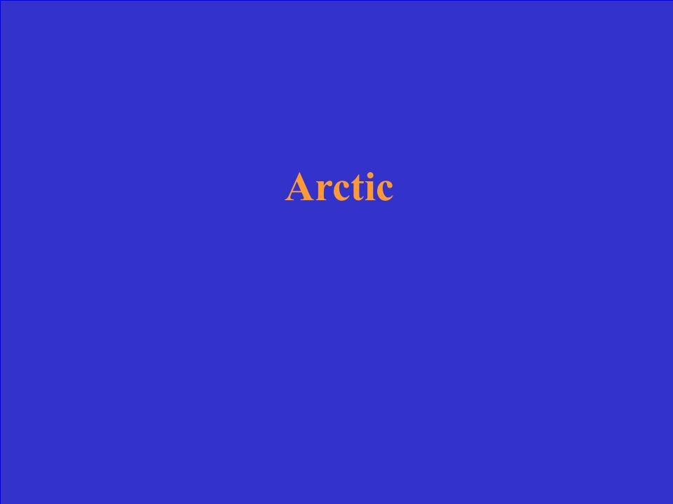 What ocean is located near the North Pole