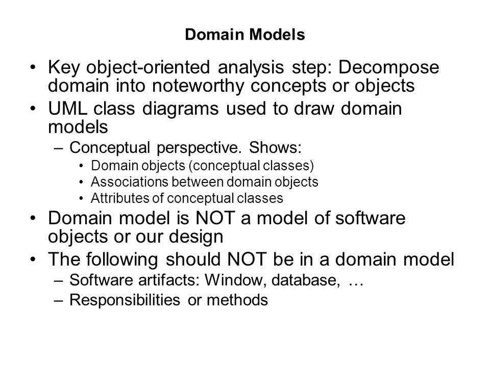 Chapter 9 Domain Models Domain Model In Uml Class Diagram Notation