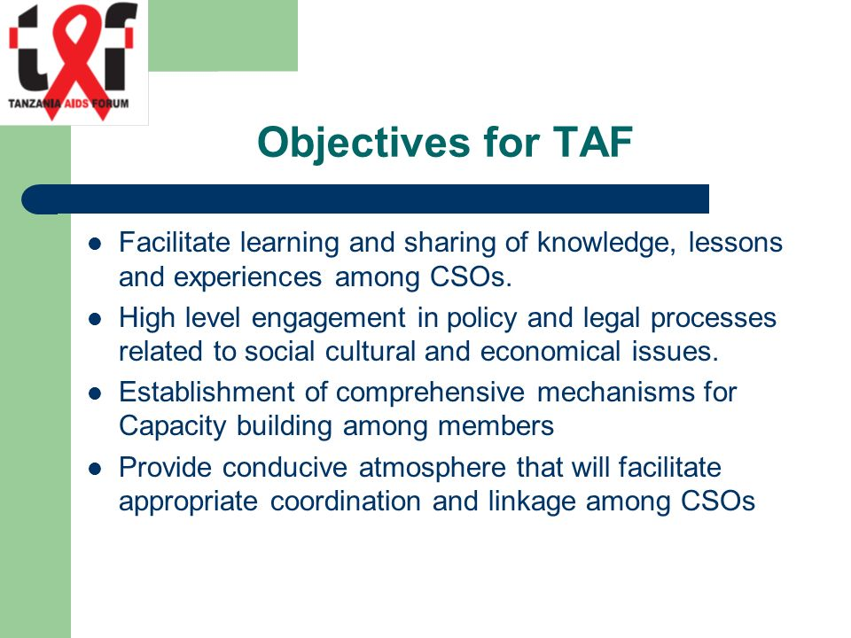 Facilitate learning and sharing of knowledge, lessons and experiences among CSOs.