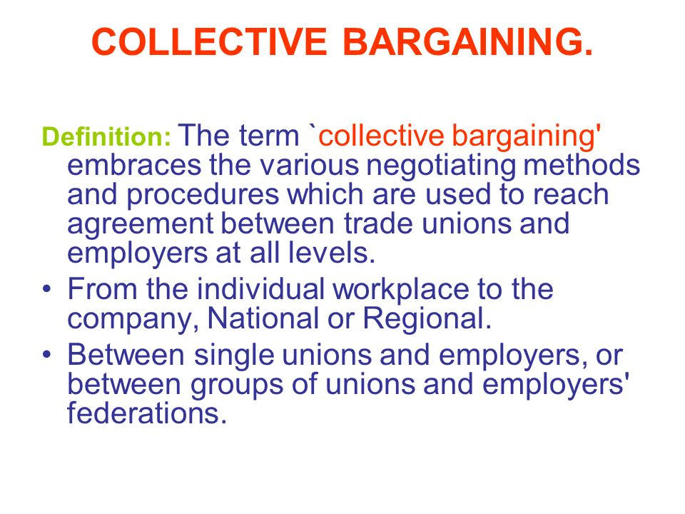 Trade Union Congress Of Tanzania Tucta Collective Bargaining