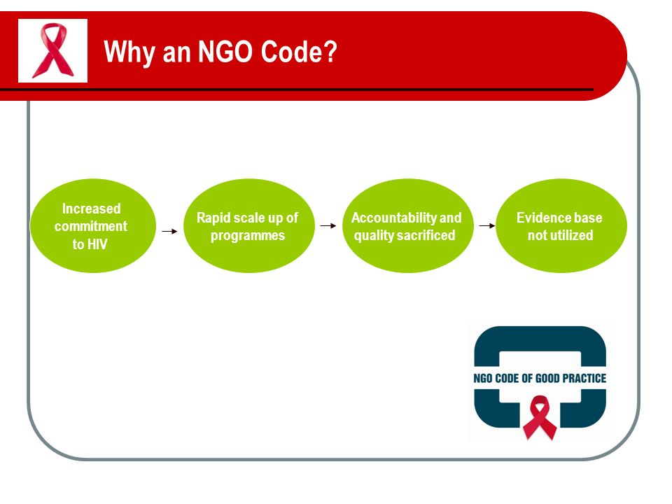 Why an NGO Code.