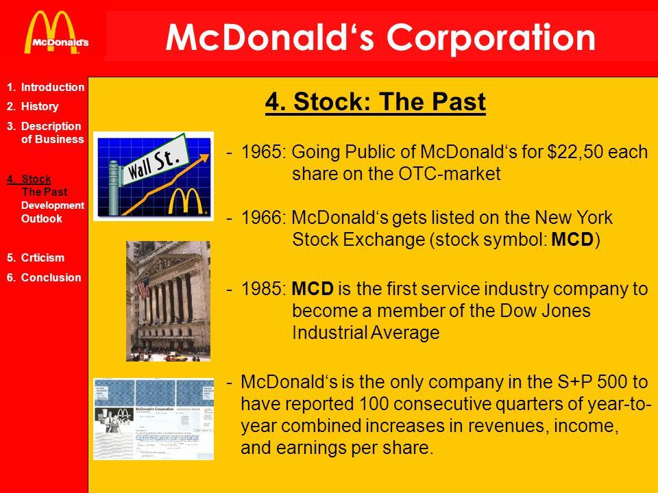 Mcdonalds Corporation 1 Introduction 2 History 3scription Of
