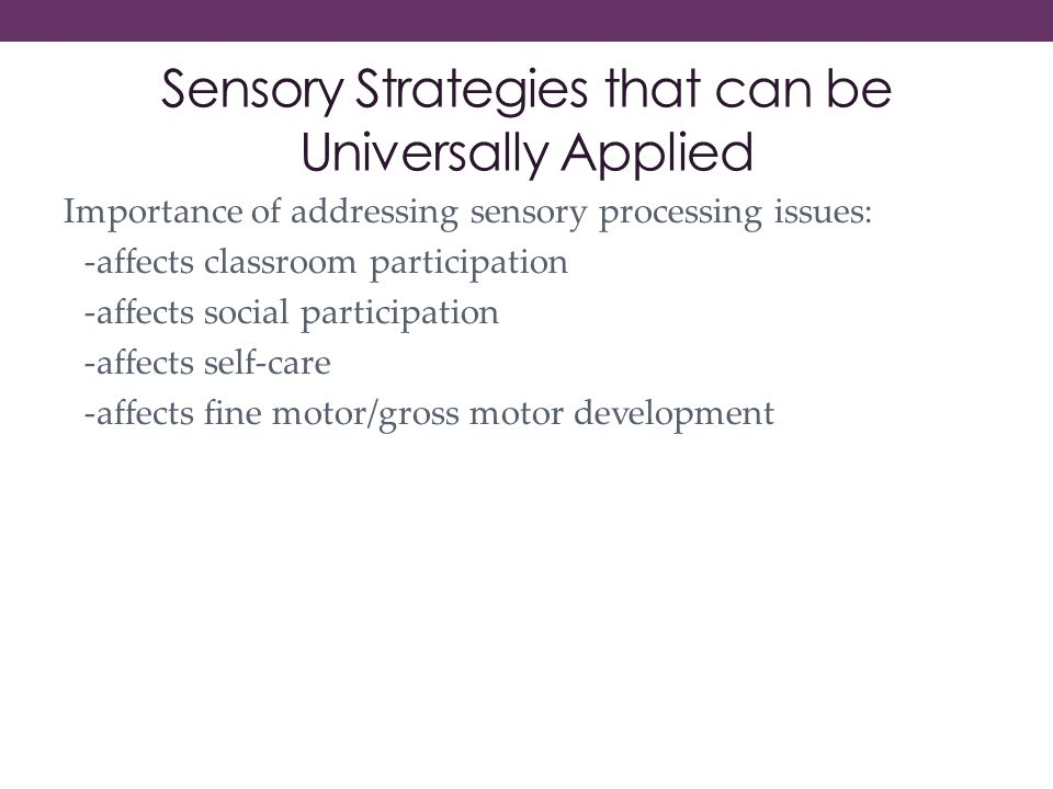 How Sensory Processing Issues Affect >> The Asd Nest Inclusion Model Sensory Issues And Interventions