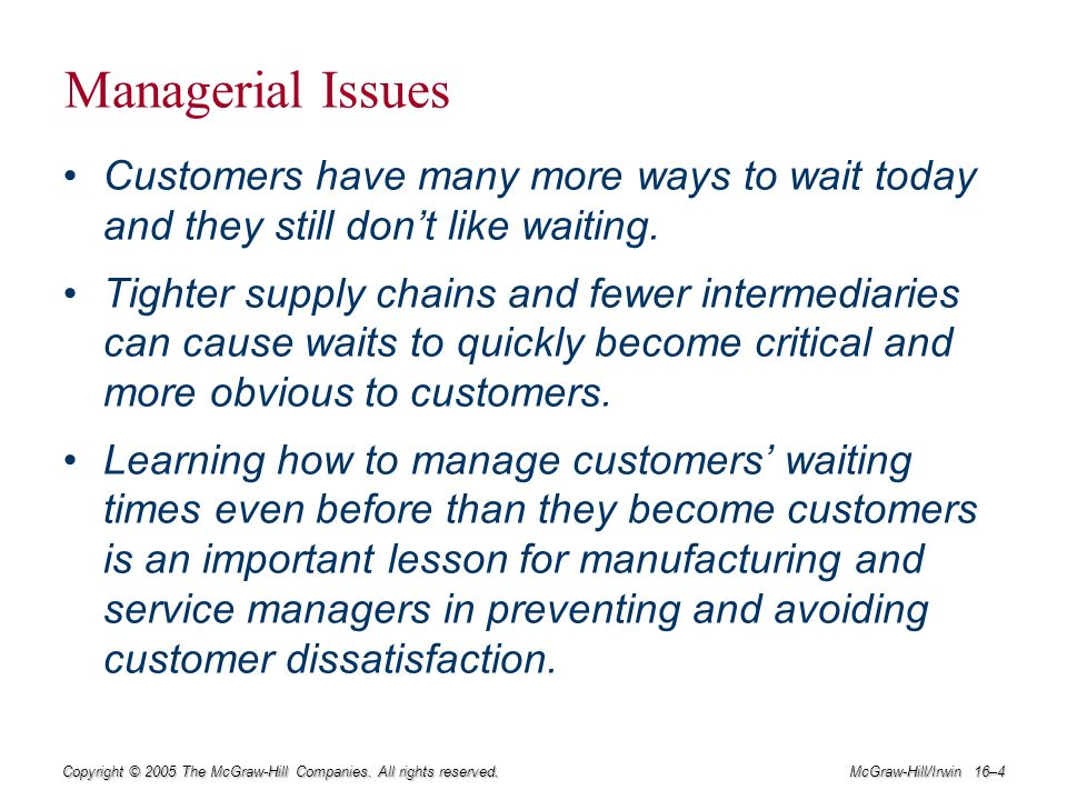 companies with operations management issues