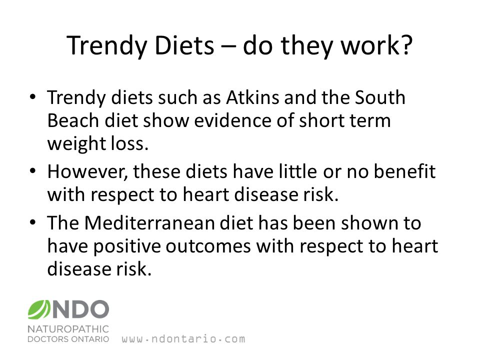 Trendy Diets – do they work.