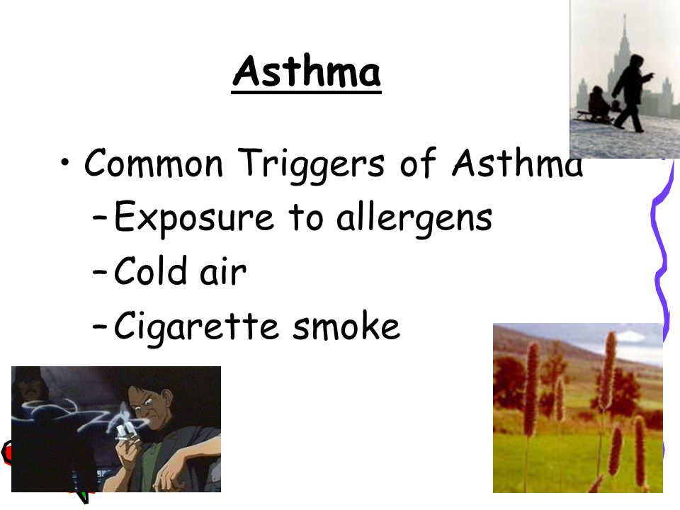 Asthma Periods when asthma symptoms are being experienced is called asthma attacks.