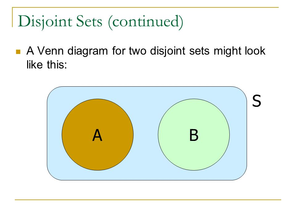 Venn Diagram Disjoint Sets Wiring
