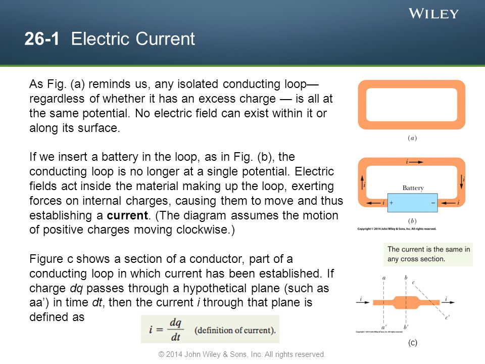 26-1 Electric Current As Fig.