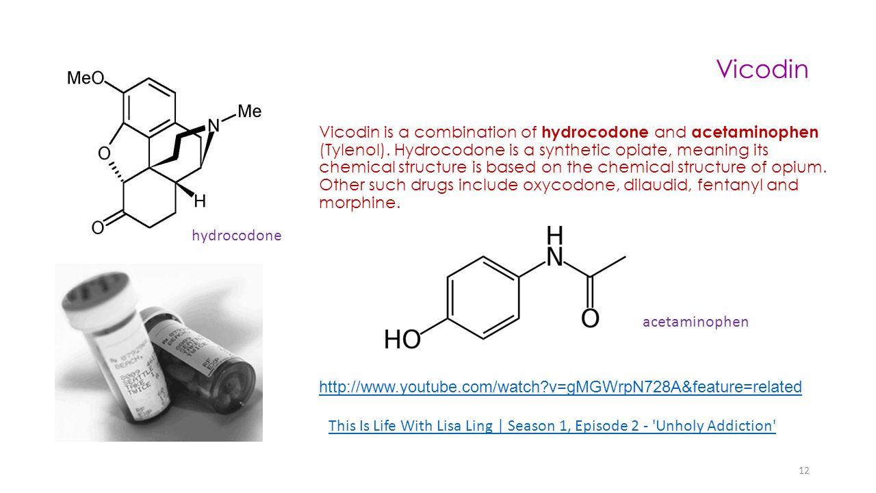 vicodin vicodin is a combination of hydrocodone and acetaminophen tylenol