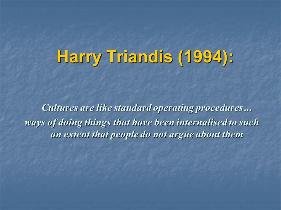 harry triandis