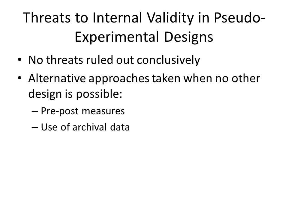 pseudo experimental design