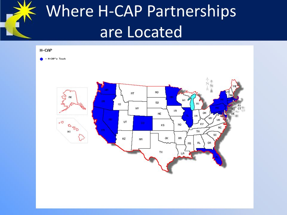 Where H-CAP Partnerships are Located