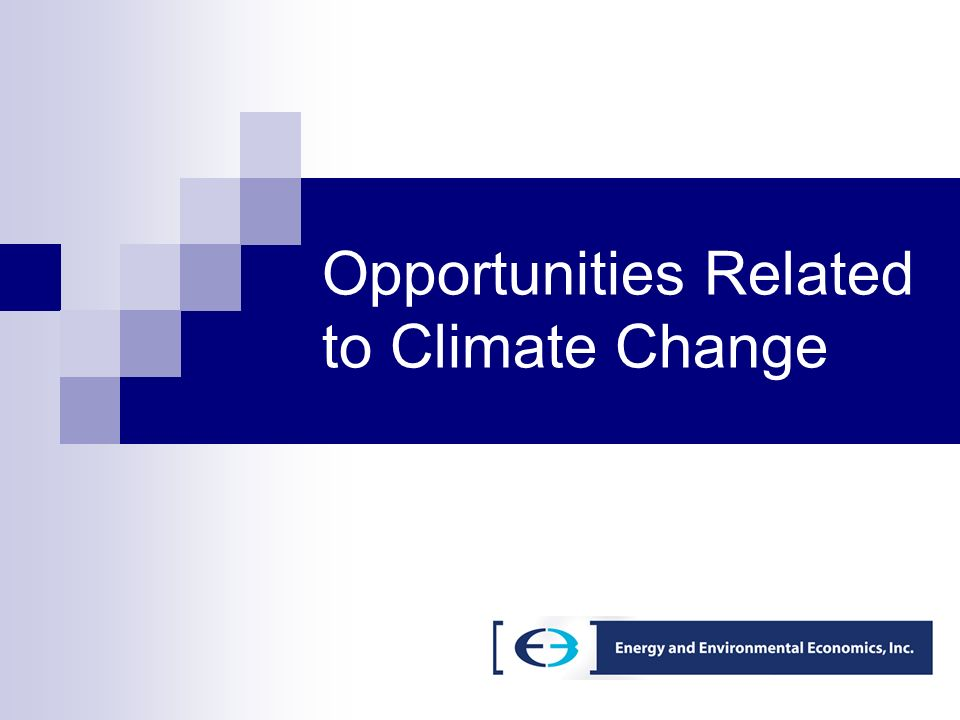 Opportunities Related to Climate Change