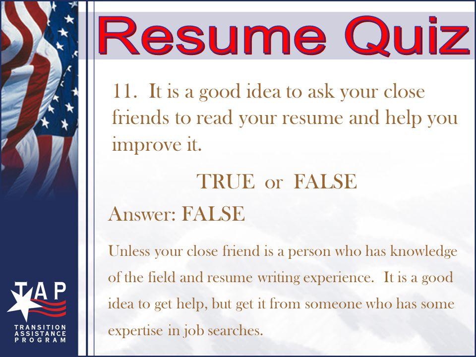 Create an Effective Résumé Objectives: Understand how to write ...