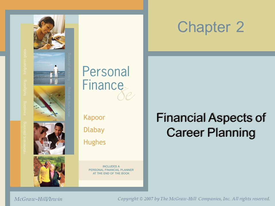 Chapter 2 Financial Aspects of Career Planning McGraw-Hill/Irwin Copyright © 2007 by The McGraw-Hill Companies, Inc.