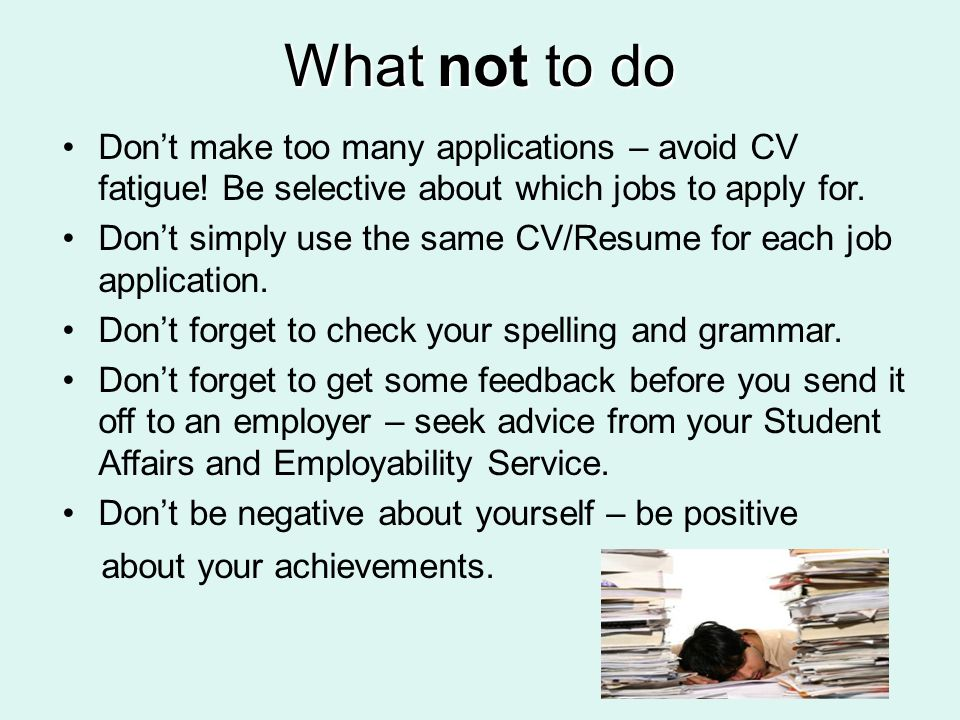 Employability Skills Session 7 Effective Applications. - ppt download