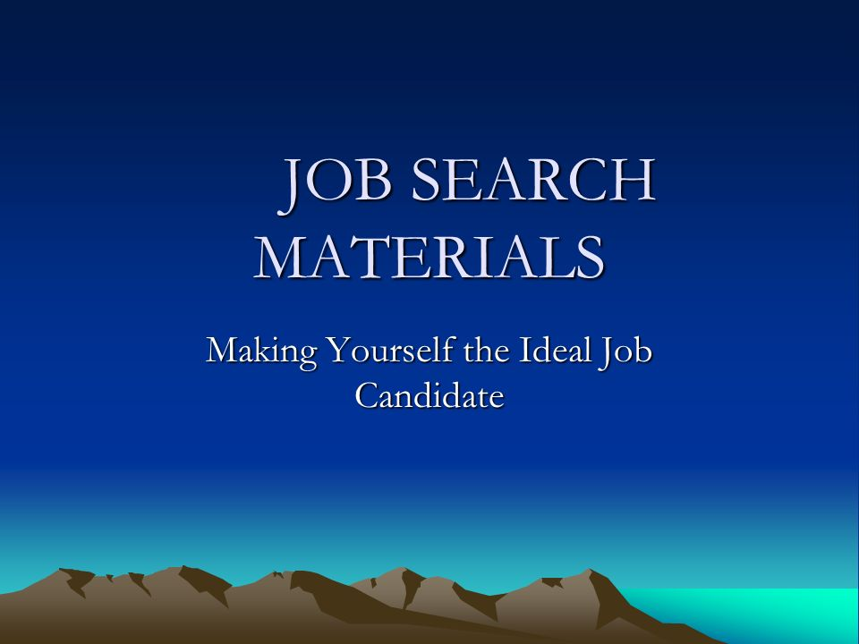 Ideal job search