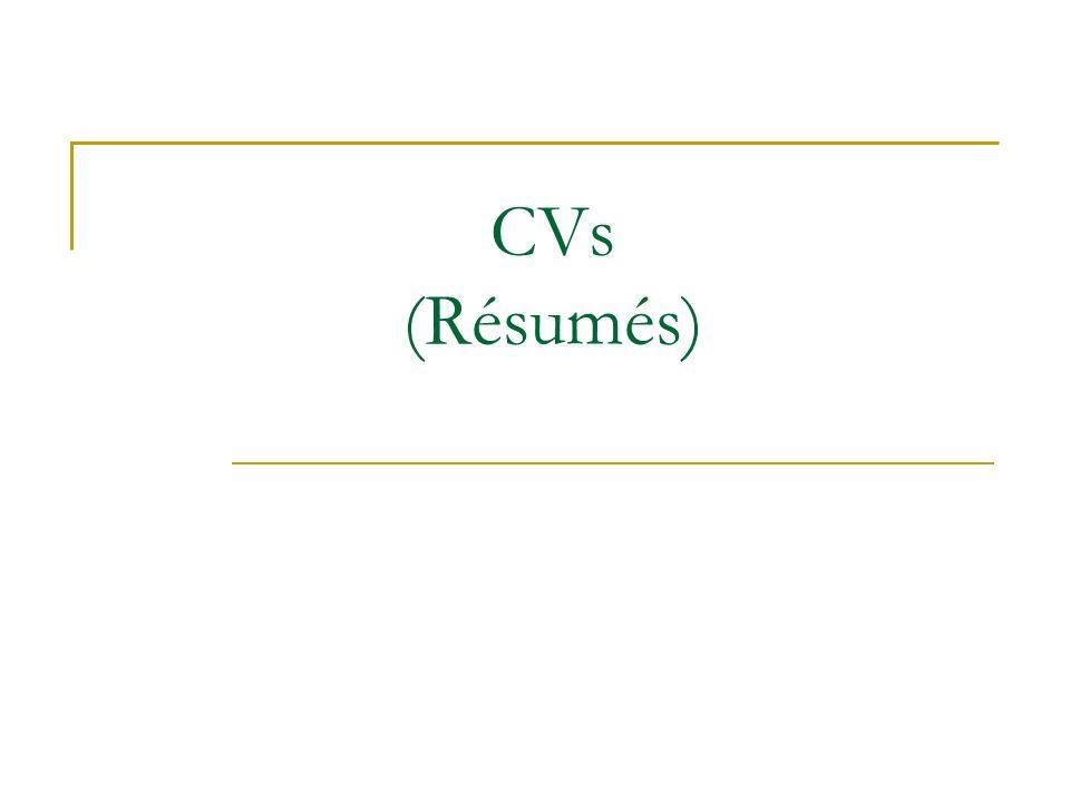 CVs Resumes Three Step Resume Process Planning
