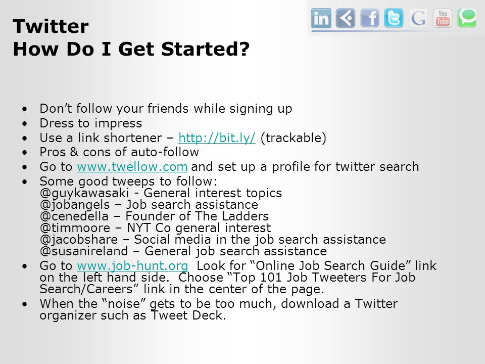 Twitter How Do I Get Started.