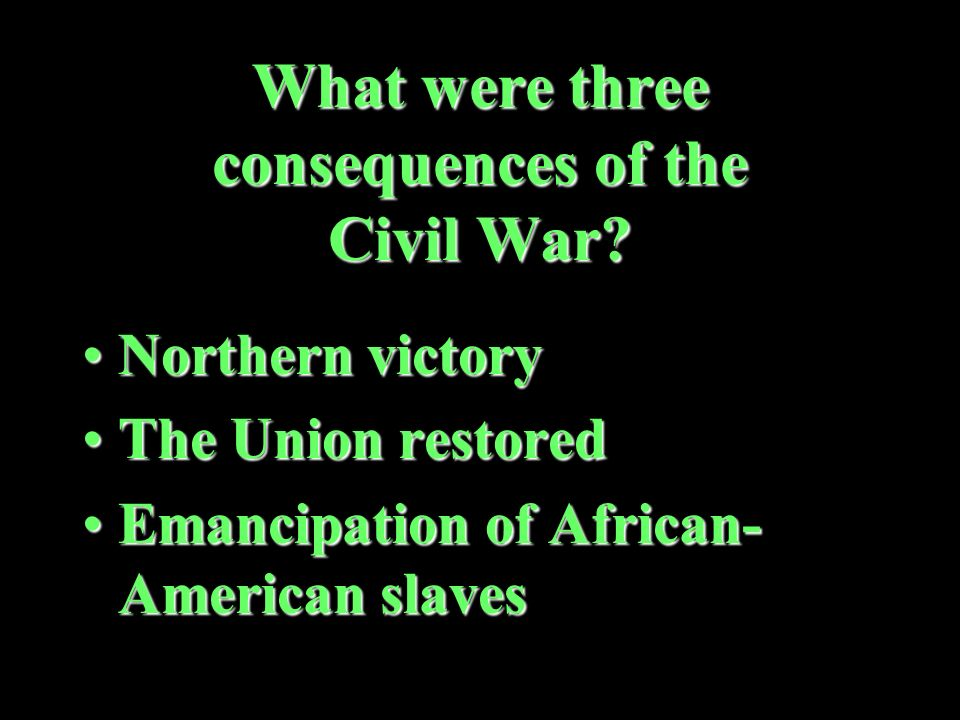 What did the secession of the Southern states trigger The Civil WarThe Civil War