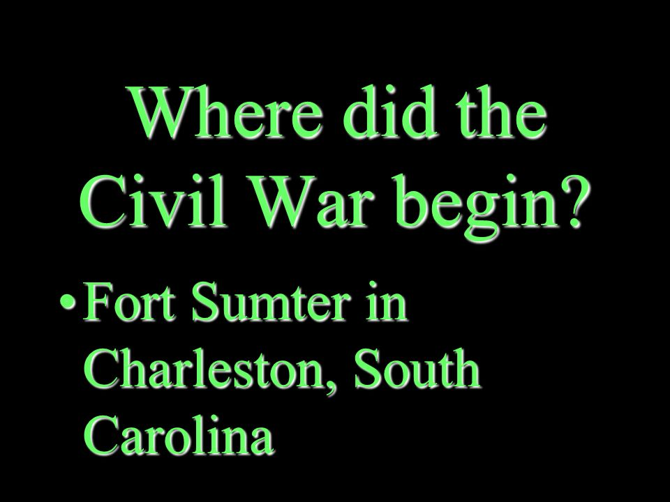 What event caused the Civil War to begin.