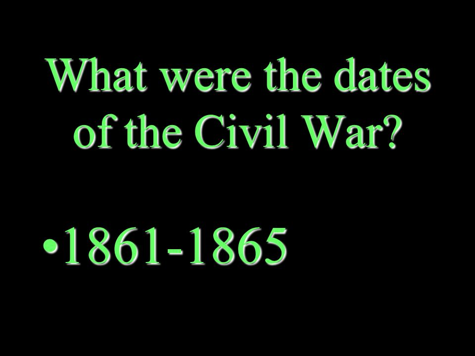 Where did the Civil War begin.