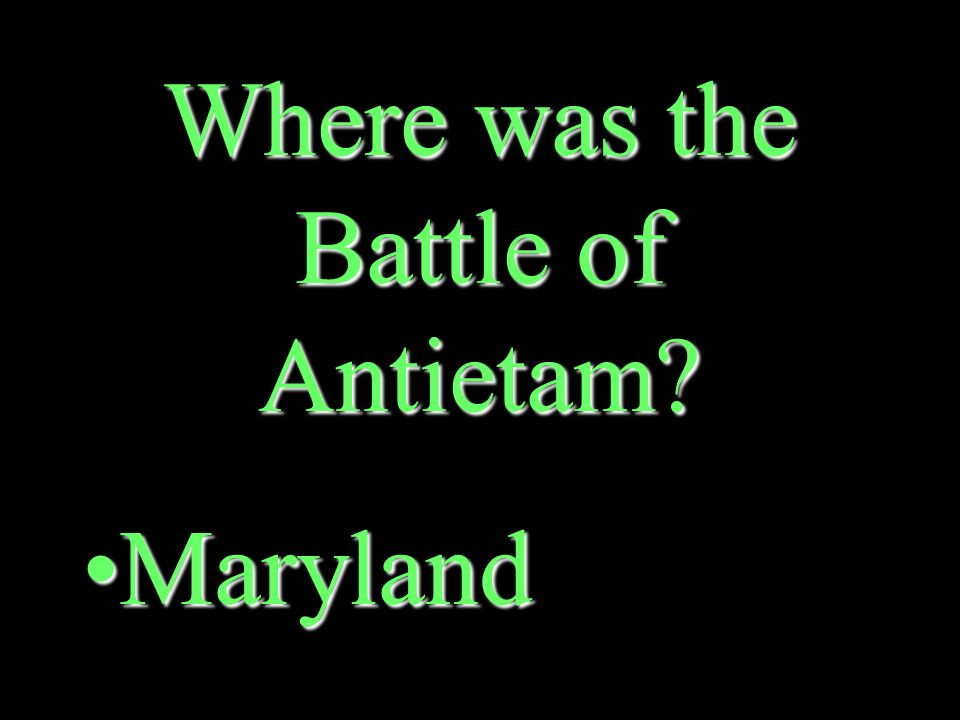 Which side won the Battle of Antietam The NorthThe North