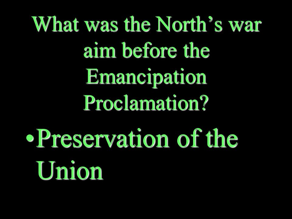 What did the Emancipation Proclamation do.