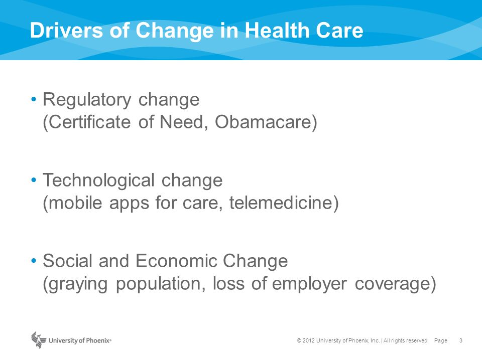 Organizational and Institutional Change in Health Care: From