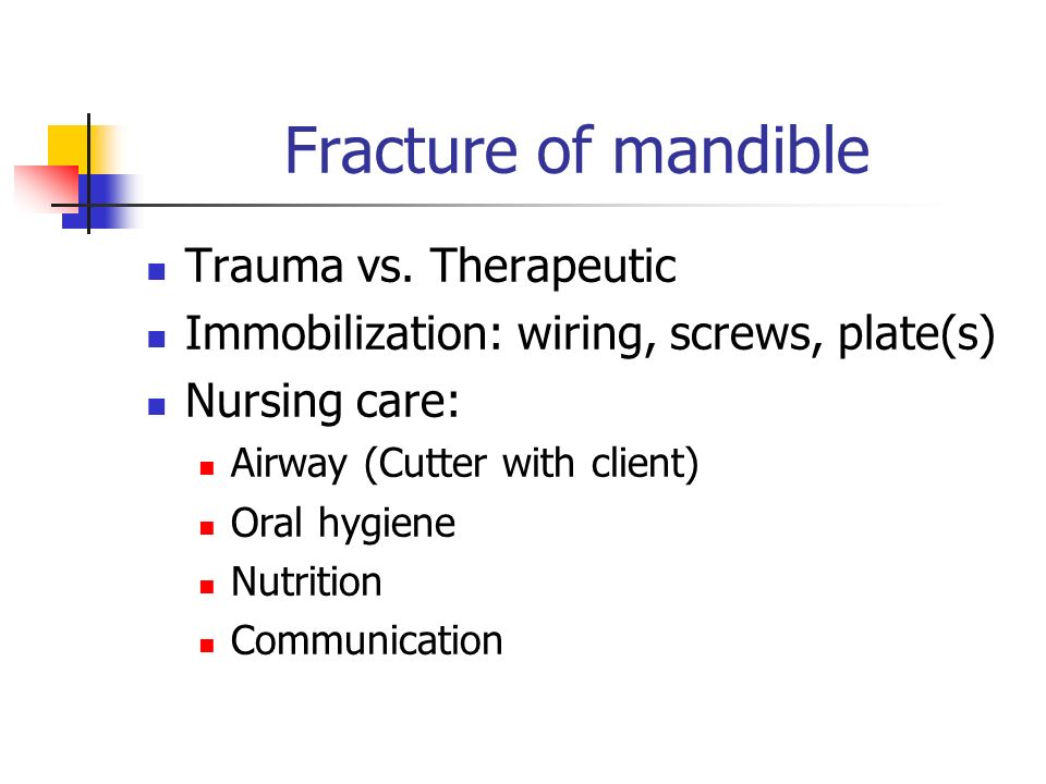 Fracture of mandible Trauma vs.