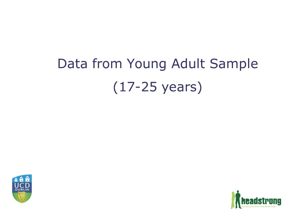 Data from Young Adult Sample (17-25 years)