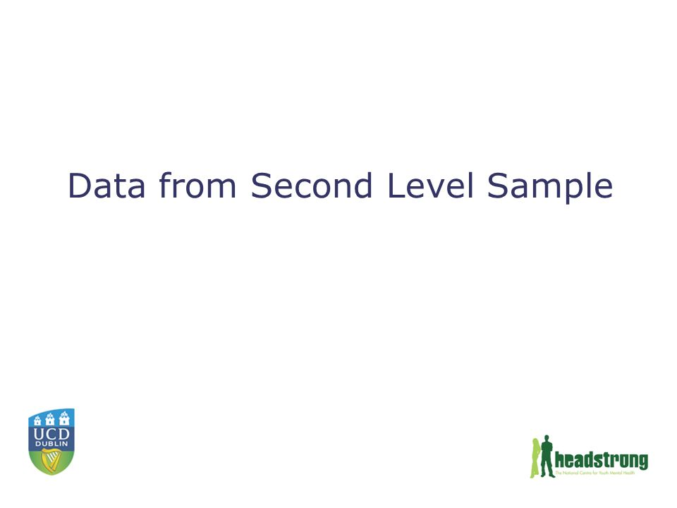 Data from Second Level Sample