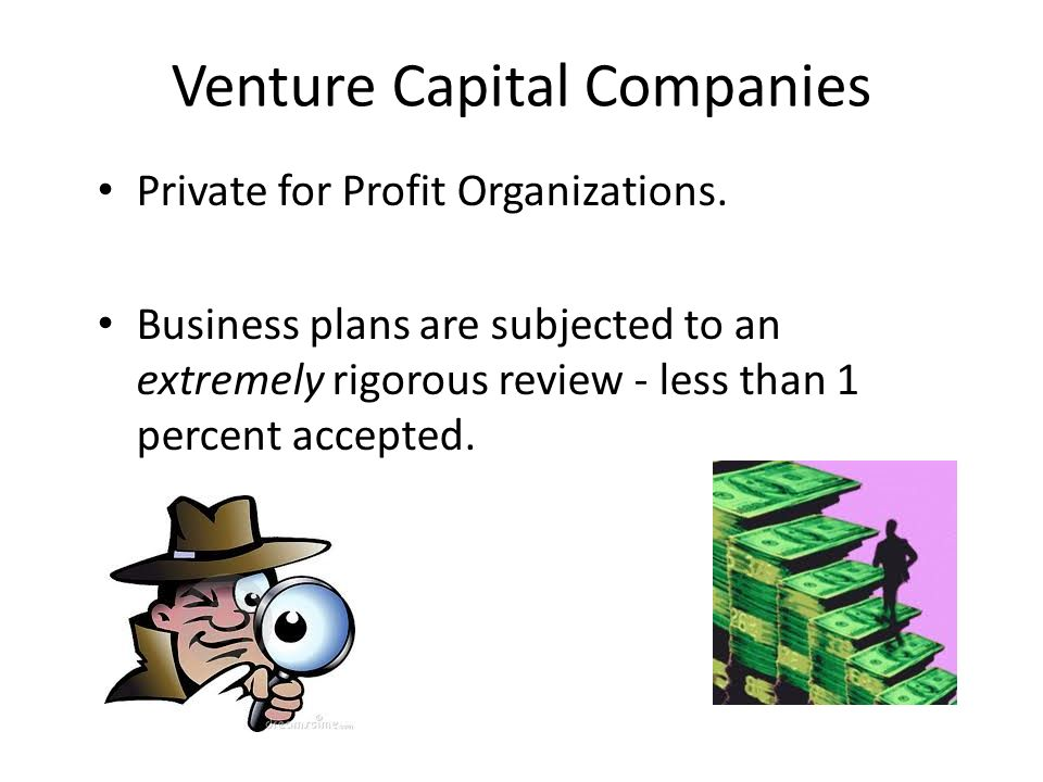 Venture Capital Companies Private for Profit Organizations.