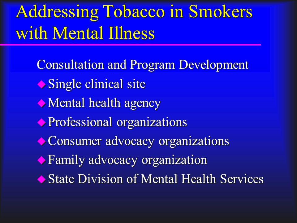 Addressing Co-Occurring Schizophrenia and Nicotine