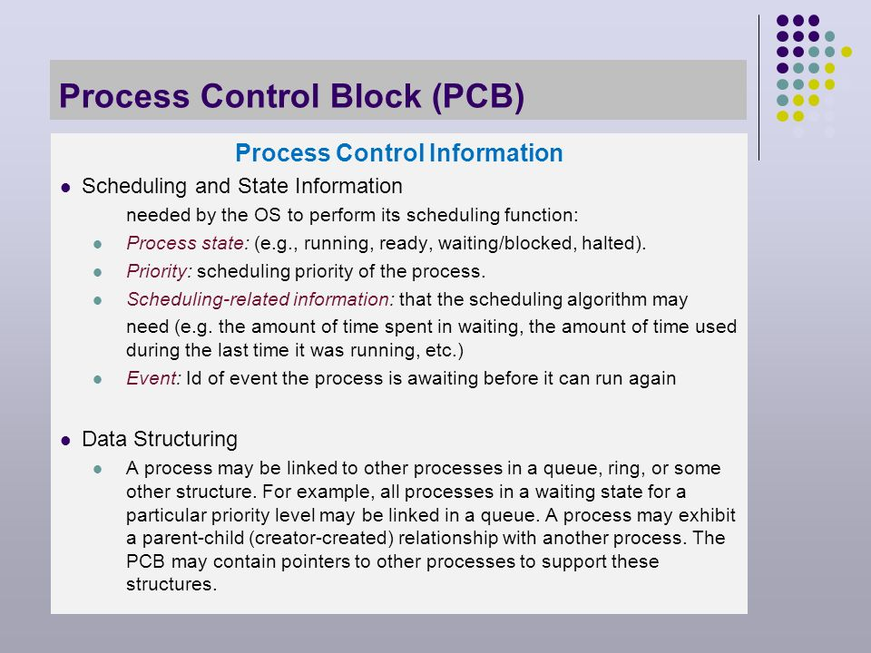Process Description and Control Chapter 3. Major Requirements of an ...