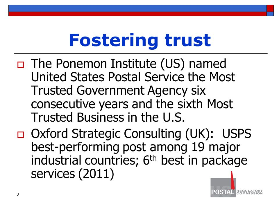 most trusted government agencies