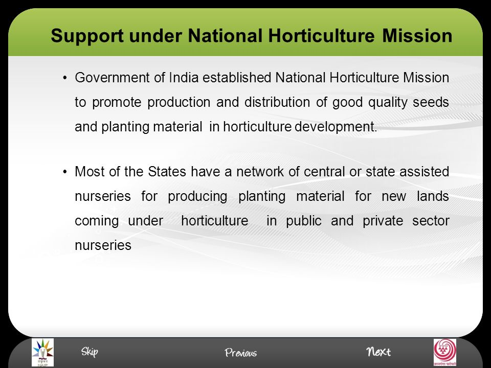 national horticulture mission india