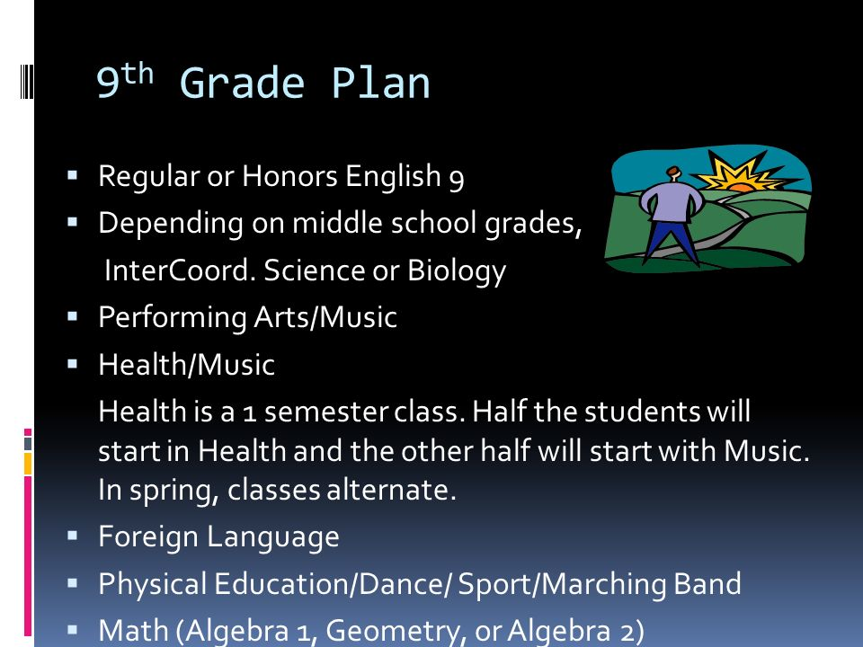9 th Grade Plan  Regular or Honors English 9  Depending on middle school grades, InterCoord.