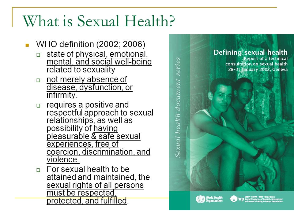 Physical sexual health definition