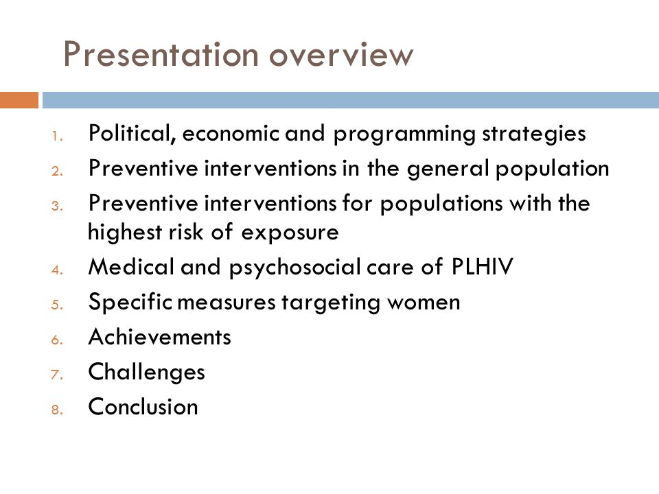 Presentation overview 1. Political, economic and programming strategies 2.