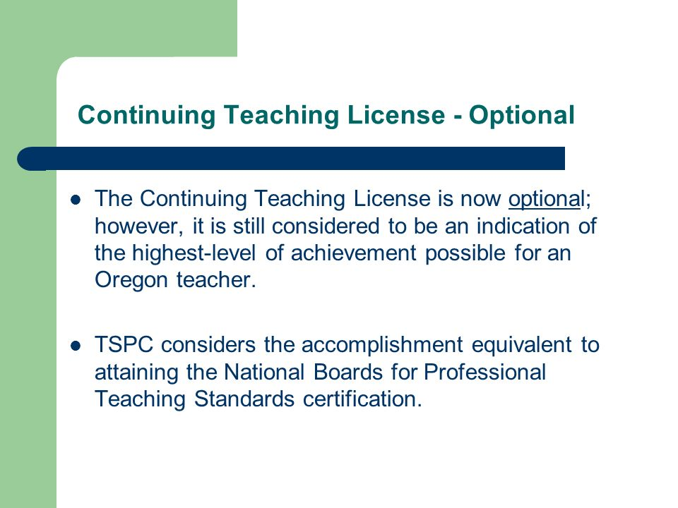 Tspc The Licensing Process Ospa Conference October 18 Th Ppt Download