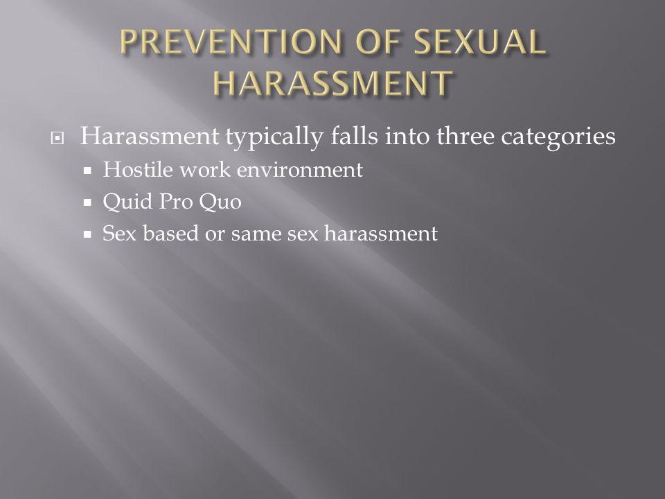 Q significa quid pro quo sexual harassment