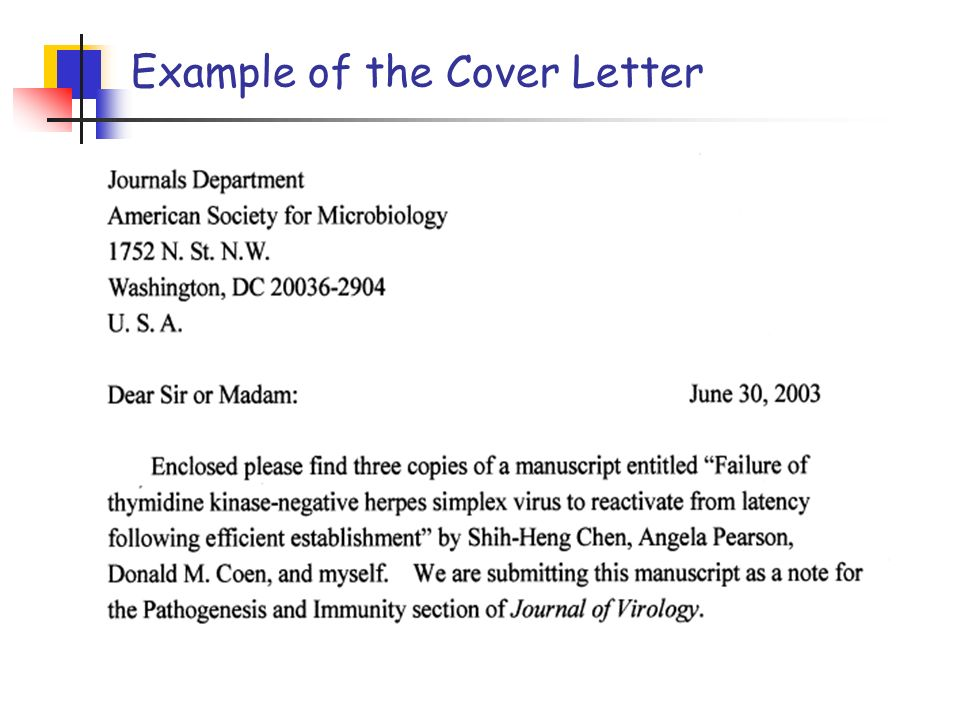 Cover Letter How To Submit The Manuscript Pin Ling Ҍ ƖŒ Ph D Department Of Microbiology Immunology Ncku Ext Ppt Download