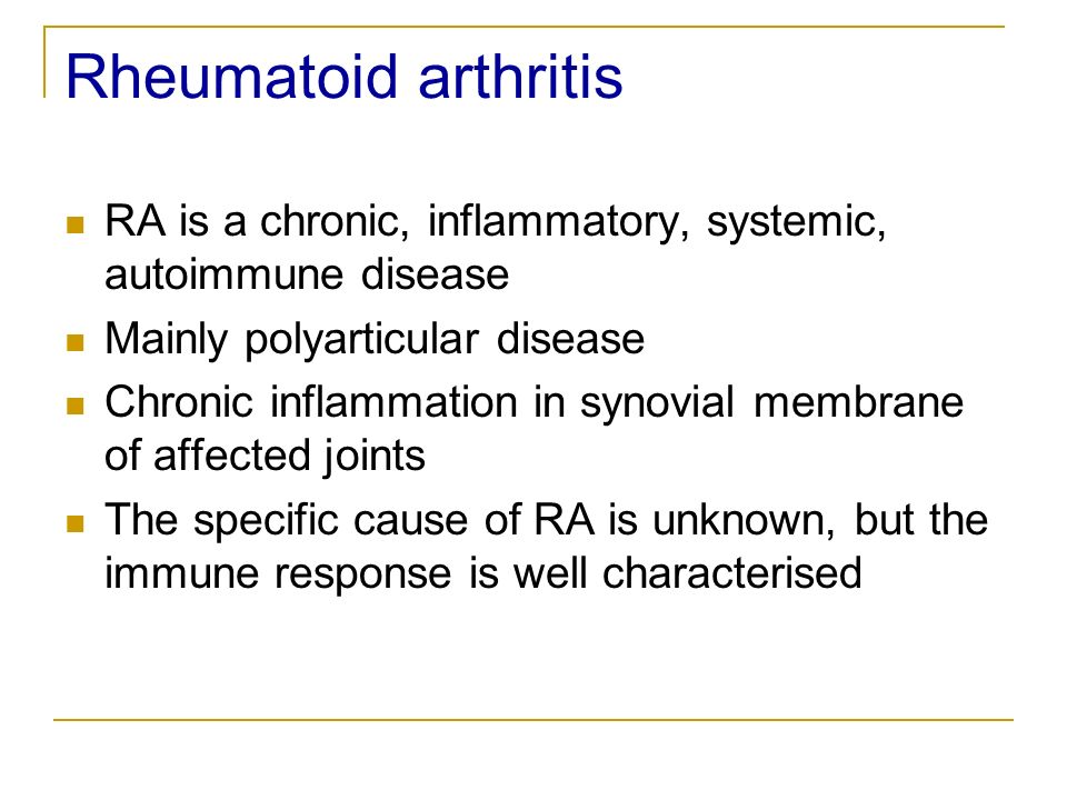 Recomendations for the medicamentous treatment of chronic