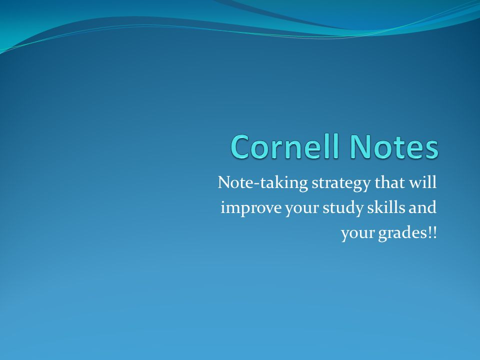 Note-taking strategy that will improve your study skills and your grades!!