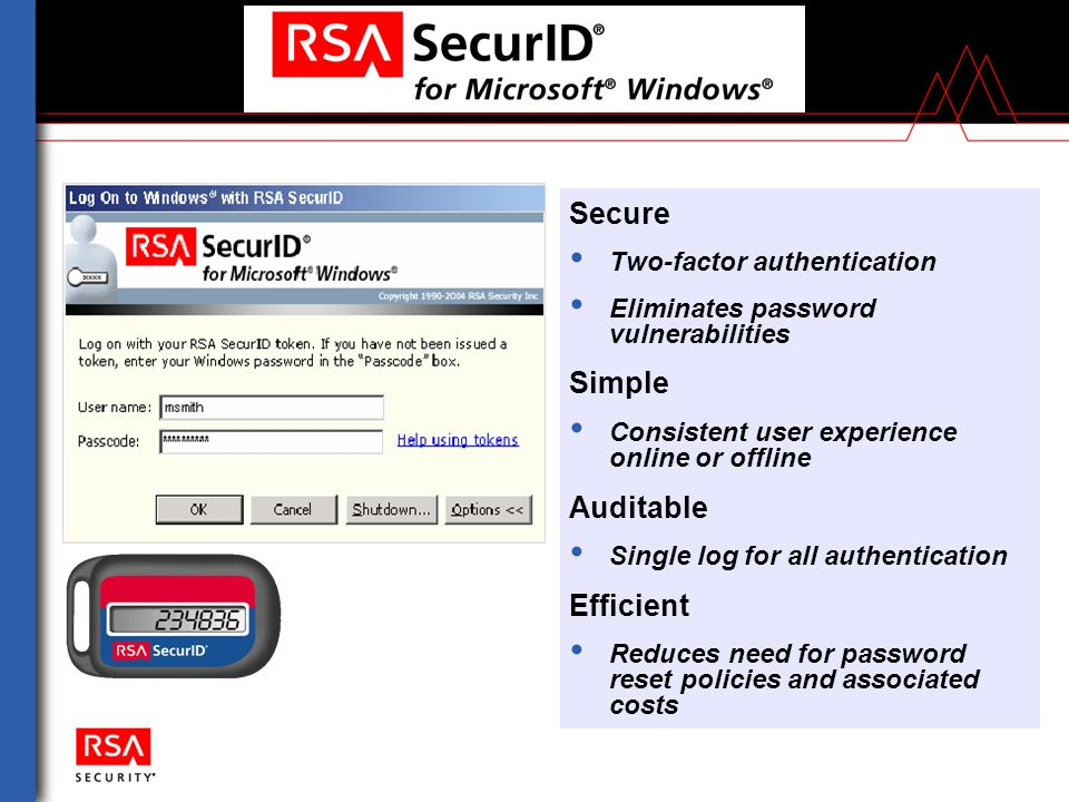 RSA Security Validating Users and Devices to Protect Network